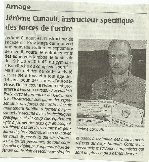 article Le Maine Libre - 16 10 2014 - Jérome Cunault