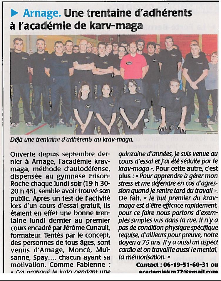 Article Le Maine Libre - 02 11 2014