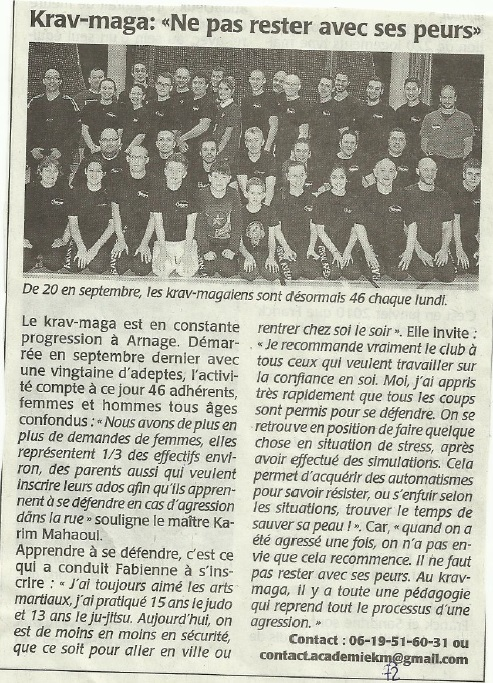 Article Maine Libre - Arnage - 02 02 2015