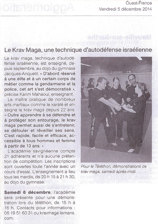 Article OF - 05 12 2014 - AKM Savigné