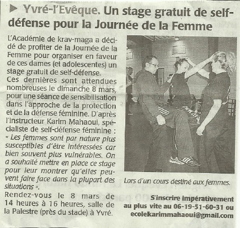 Article Le Maine Libre - 02 03 2015